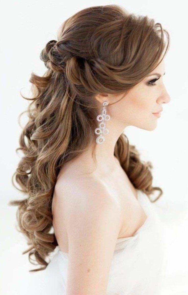 Bridal Hairstyles Long Hair Romantic Waves Wedding Hairstyle Semi Open Bridal Hairstyle Bridal Hairstyles Long Hair Styles Wedding Hair Down Wedding Hairstyles