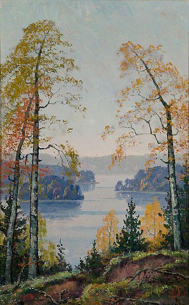 Lake landscape, Favorin, Ellen (1853-1919)