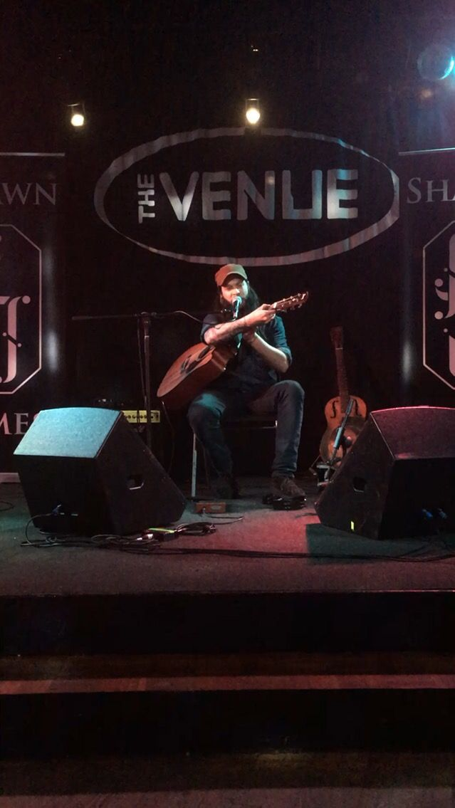 Shawn James playing live at Dumfries - The Venue
