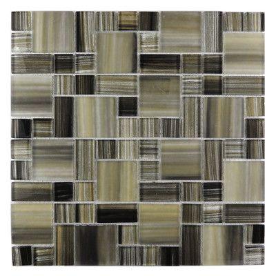 Abolos Handicraft II Random Sized Glass Mosaic Tile In Black Sea