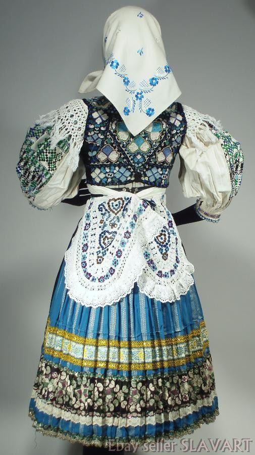 Details about  SLOVAK FOLK COSTUME ethnic embroidered apron vest blouse skirt rare ABELOVA kroj