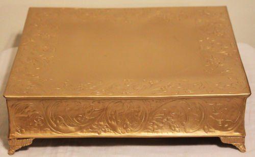 14 Inch Matte Gold Square Wedding Cake Stand Belmont Cake... https://www.amazon.co.uk/dp/B006KWLQQ4/ref=cm_sw_r_pi_dp_x_gxD6zbT0SN8FQ