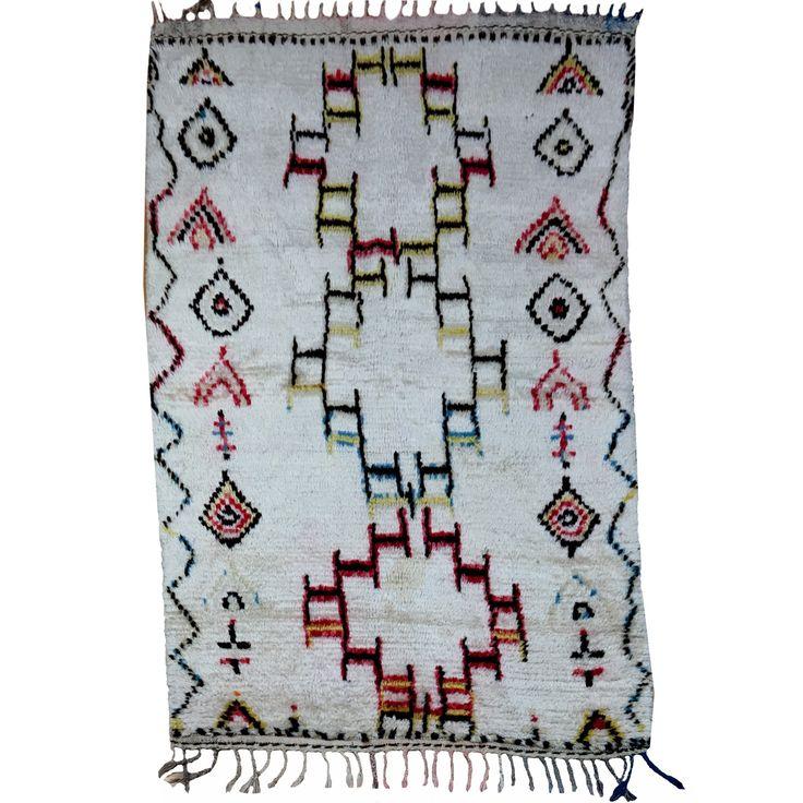 14972 Azilal Vintage 170 x 100 cm Berber Teppich Marokko Sammlerteppich