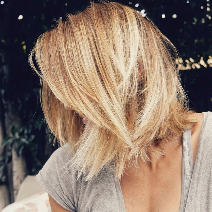 My latest 'do | Blonde balayage lob