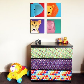 I was going to decoupage a Malm Ikea dresser, but now maybe I'll upholster one!