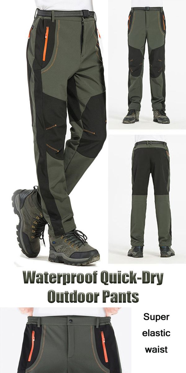 91d396deec 【57%OFF】Mens Outdoor Sport Pants /Elastic Waist Waterproof Quick-Dry Trouser#outdoor  #sport #gym #men