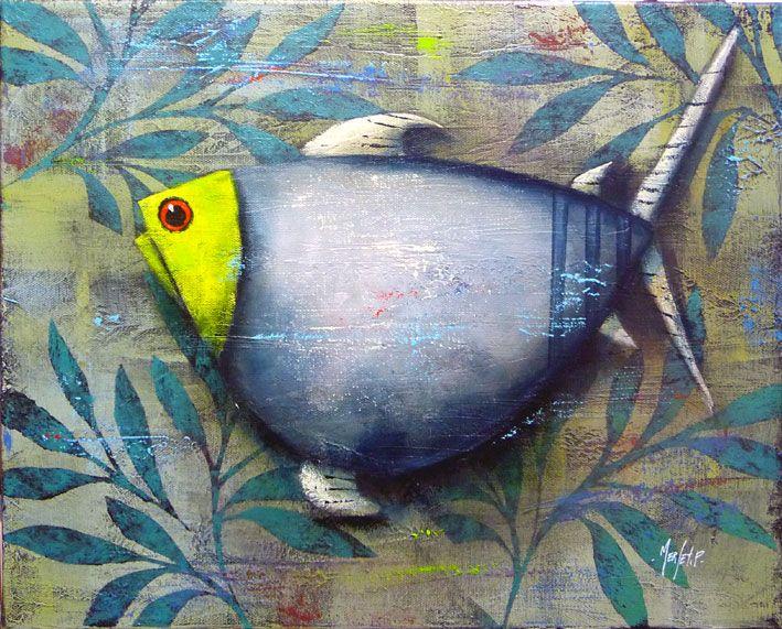Pascal Merlet - Pez en las hojas inferiores