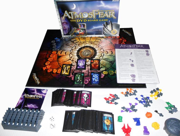 ATMOSFEAR The Gatekeeper DVD Board Game Horror Nearly Complete  #Pressman