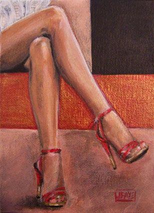 Red Shoe Dailies -- Eye Candy-- COMMISSION -- jacqui faye
