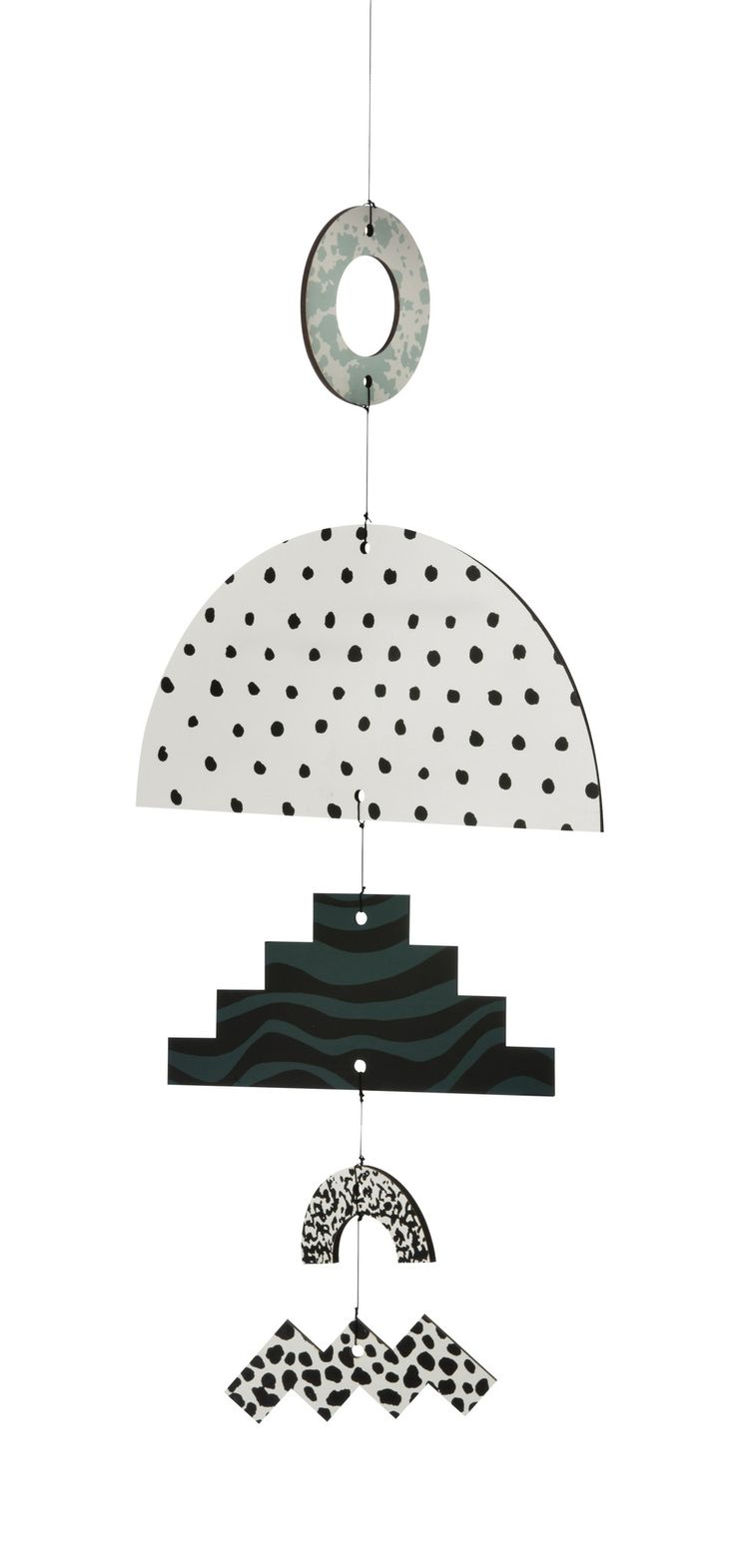 This decorative mobile is a collaboration between Elkeland and ferm LIVING. Each side has a different print with the characteristic Elkeland signature, making sure to add an artistic touch to your per