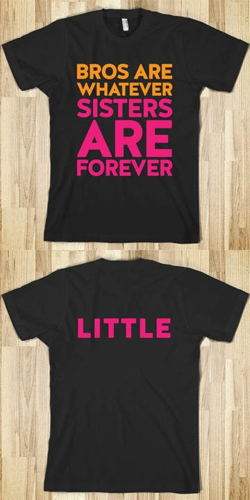 Big Sis Little Sis Reveal Tees - Sorority Shirts - Little Sis. CLICK HERE to purchase :) Buy 1 or 100!