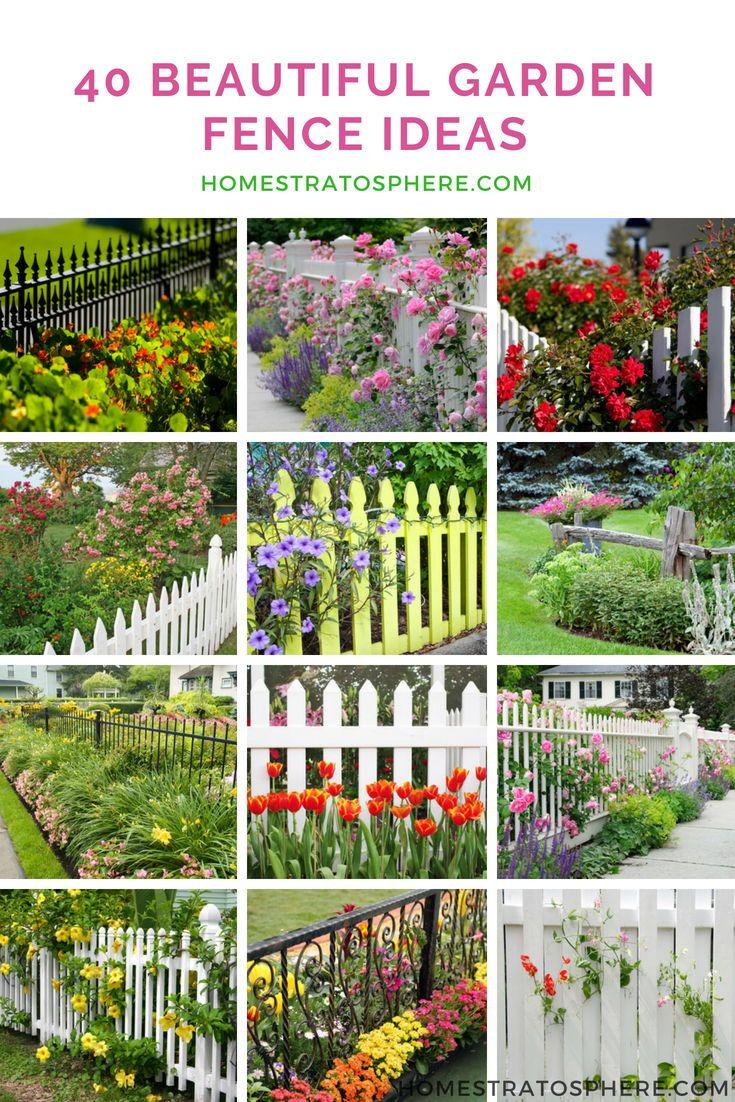 10 Beautiful Garden Fence Ideas  Small garden fence, Cheap garden