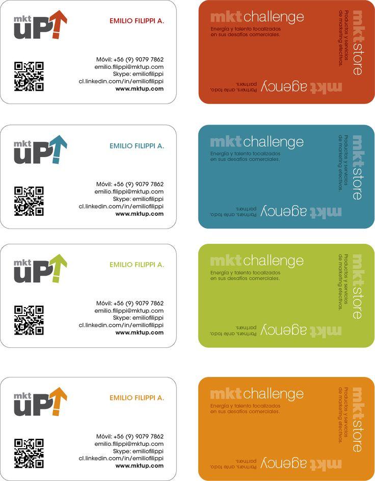 Tarjetas presentación para Empresa MktUp!