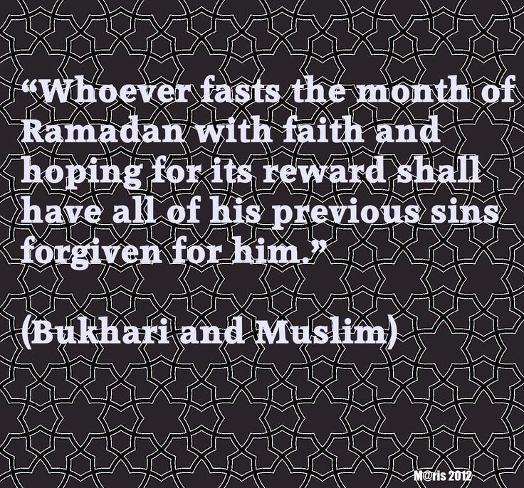 Reward for fasting during Ramadhan