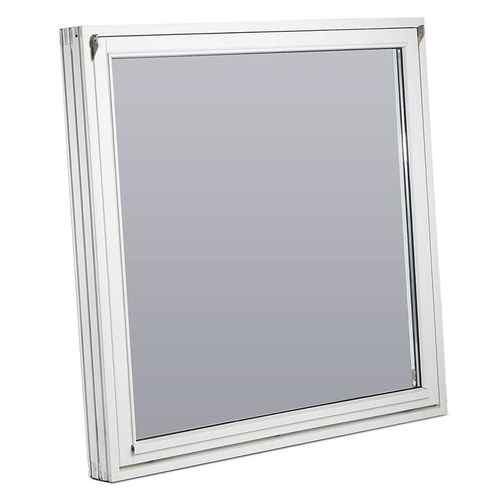 Tophængt vindue 1 energirude - hvid fyr 119x119