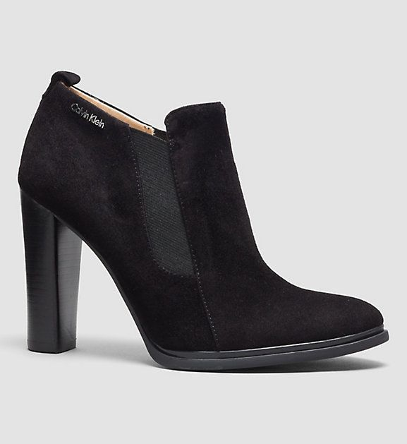 JALENE SUEDE/ELASTIC ANKLE BOOT Calvin Klein | Official Site and Online Store