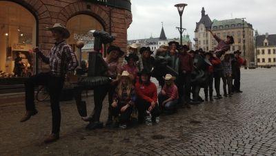 Flash Mob i Malmö av Lone Stars Cowboys