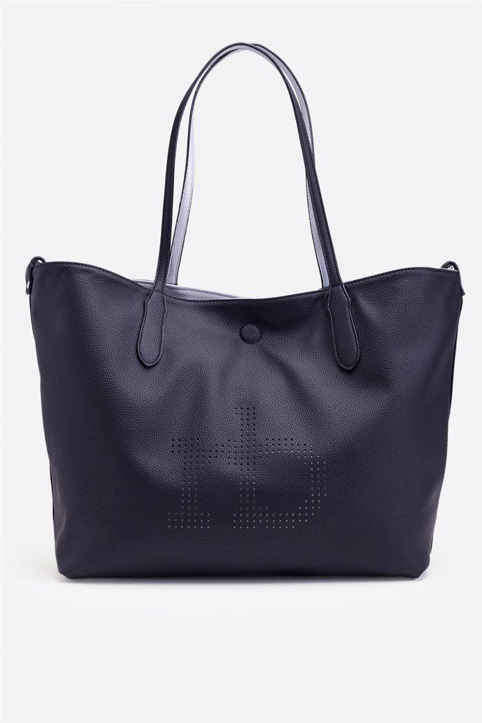 3dd8108551 ROCCOBAROCCO Τσάντα RoccoBarocco ΠΕΡΙΓΡΑΦΗ Πολυμορφική τσάντα ώμου 5 σε 1.  Δύο χρώματα στην τσάντα όταν γυρίσεις το μέσα-έξω