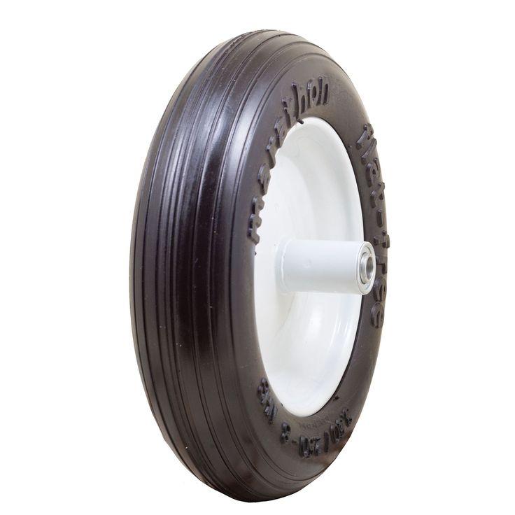 Marathon Industries 00003 13-inch Ribbed Flat Free Wheelbarrow Tire (Wheelbarrows), Multi (Plastic)
