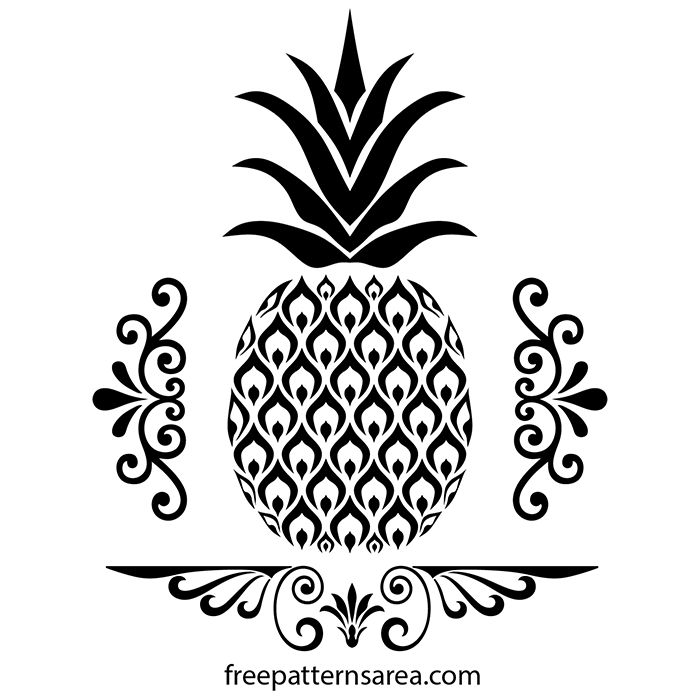 These pineapple art drawing vector files can be used with Silhouette Cutting Machines or other machines that accept SVG.This design can be used for wall art stencil.AutoCAD free dxf template for laser cnc machines is available on our page.Free pdf and png file formats can be a printable cut template for scroll saw.Eps file format