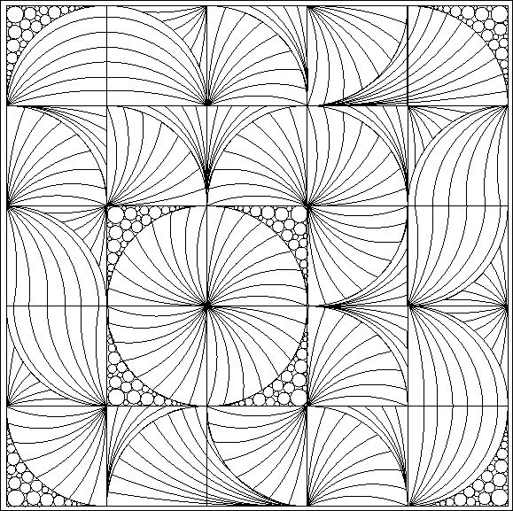 Modern Curved Two Patch--Great design for quilting quarter-circle blocks (i.e. Drunkard's Path).