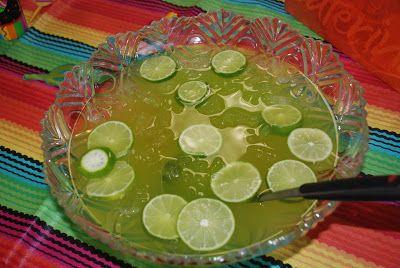 Non-alcoholic Maybe Margarita Punch at shakentogetherlife.com