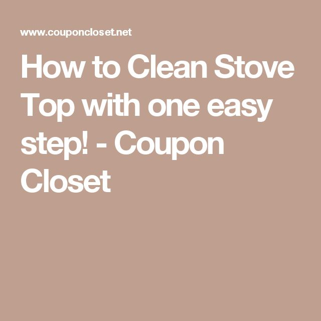Lovely How to Clean Stove Top with one easy step