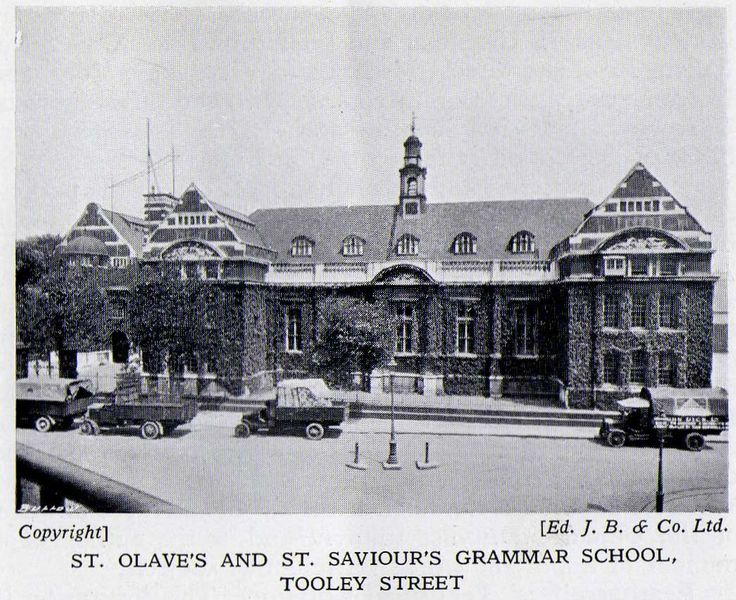 St. Olave's and St. Saviour's Grammear School, Tooley Street. Old Bermondsey pics and adverts from the 1938 Official guide to Bermondsey - Pictures of Bermondsey & Rotherhithe.
