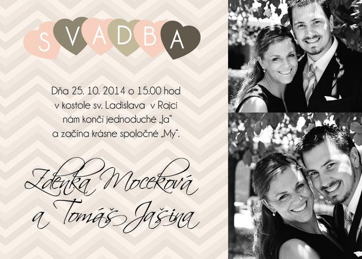 Svadobné oznámenia s fotografiou od LarisDesign