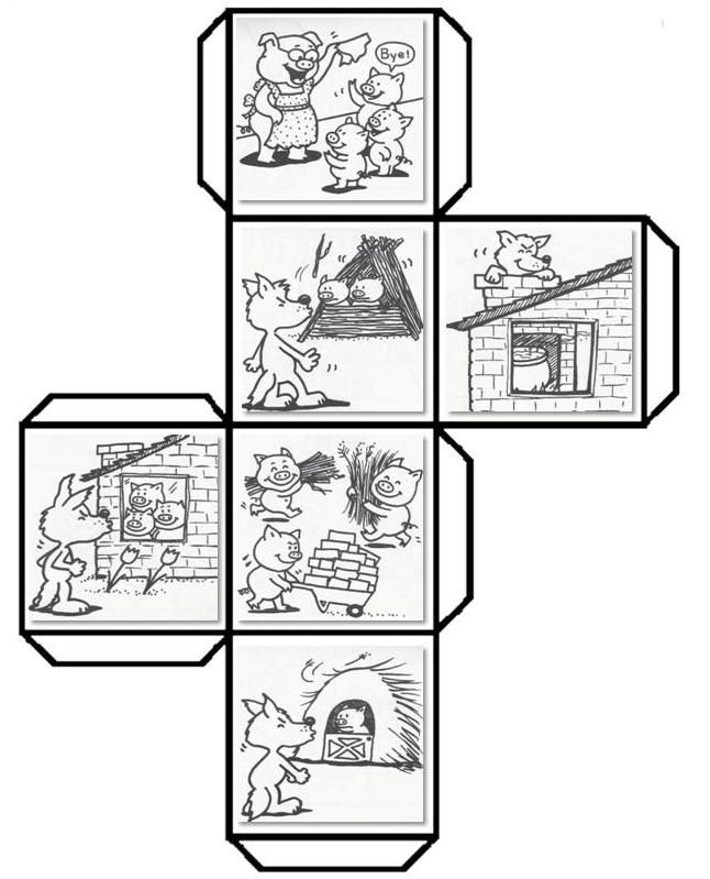 Have students color, cut, fold, and paste to make a story cube that can be used…
