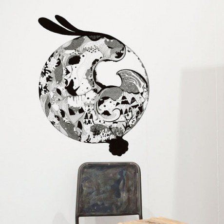 Bunny Moon Wall Decal