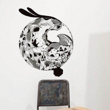 Bunny Moon Wall Decal