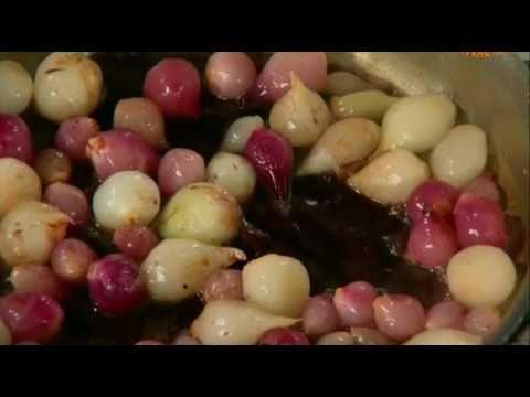 Французский луковый суп; Глазированный лук-севок; Луковые кольца; Маринованный лук; Сладкий луковый соус.