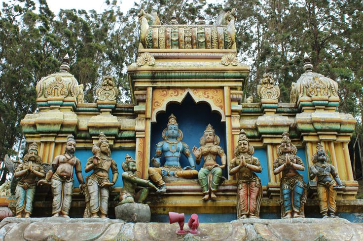 Сита Амман Храм снаружи.Шри-Ланка