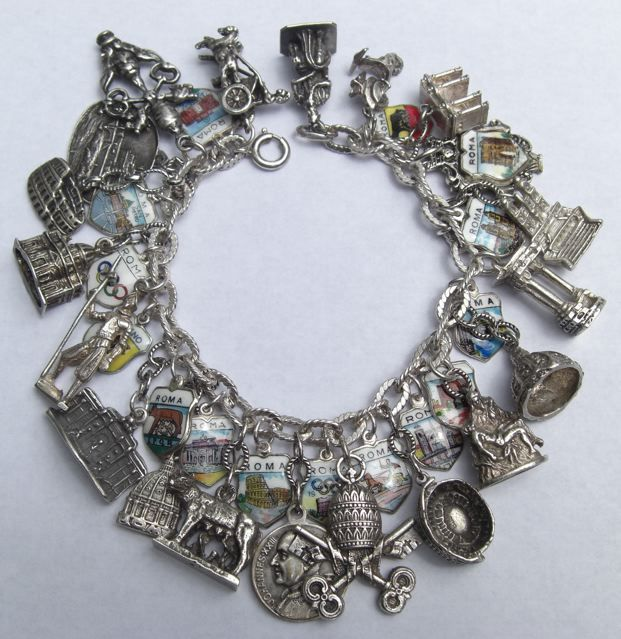 Picture Charms For Bracelets: Silver Roman Holiday Charm Bracelet. Italy