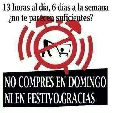 NO COMPRES EN DOMINGO