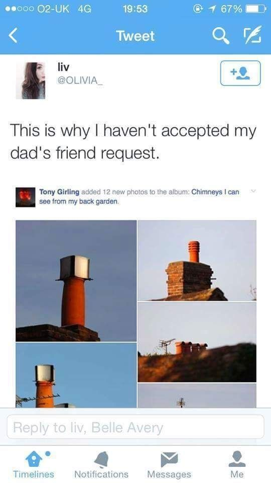 Dont have Dads on Facebook