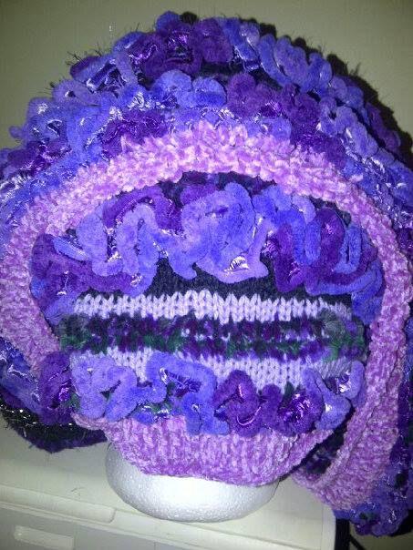 Purple infinity cowl rear
