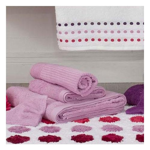 The New Plus plain range from Volpes, offers eleven new vibrant colours: Yellow, Sunny Lime, Orange, White, Turquoise, Pink, Dark Grey, Lilac, Black, Dark Denim and Purple. These luxuriously thick towels are 100% cotton, 580gsm and have longer fibresproviding even more softness and higher absorbency. Bathmats and gloves also available.