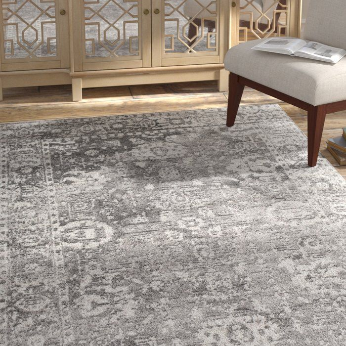 Ranck Distressed Gray Area Rug In 2019 Basement Area