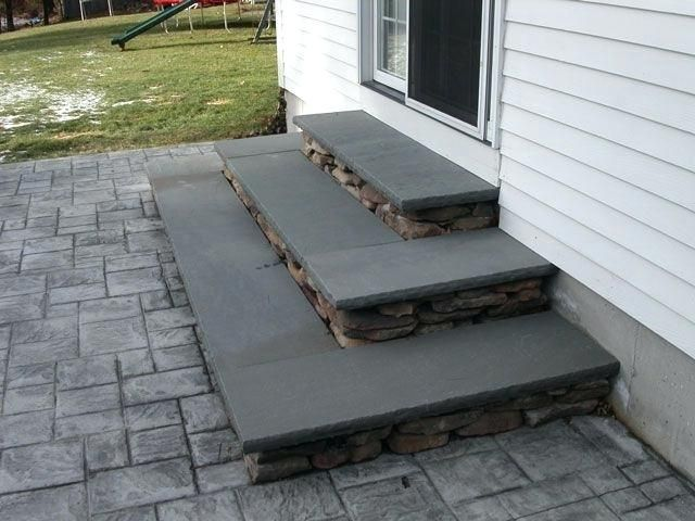 Patio Steps Granite Steps Ma Natural Path Landscaping Patio Steps In Patio Steps Porch Steps Brick Steps Paver Patio Steps Diy Patio Steps Patio Stairs Patio