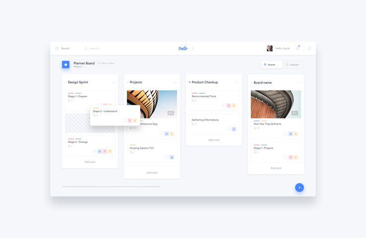 Trello Atlassian - Redesign by Michal Parulski for Netguru