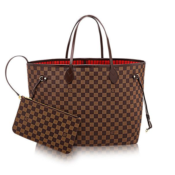 LOUIS VUITTON - Neverfull GM (LG) DAMIER EBENE Handbags - versatile tote... <3 only issue is... thin straps = can't put toooo much in here