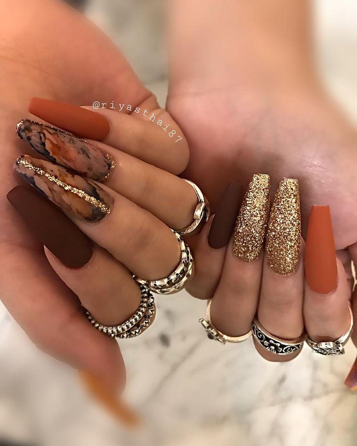 """Riya's Nail Salon💅🏻 on Instagram: """"Fall vibe 🍂🍂🍂🍂 #riyasnail…"""
