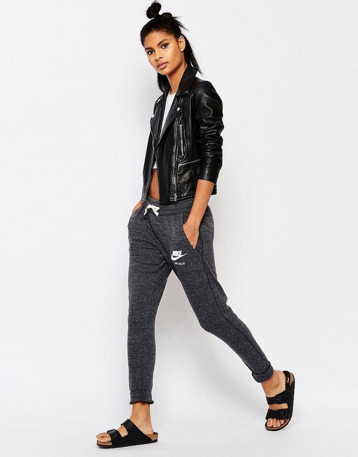 Image 1 - Nike - Pantalon de survêtement en tissu délavé style vintage avec petit logo
