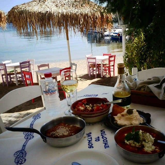 This is the #gastronomic palette of #Patmos by the #sea! Photo credits: anchiano