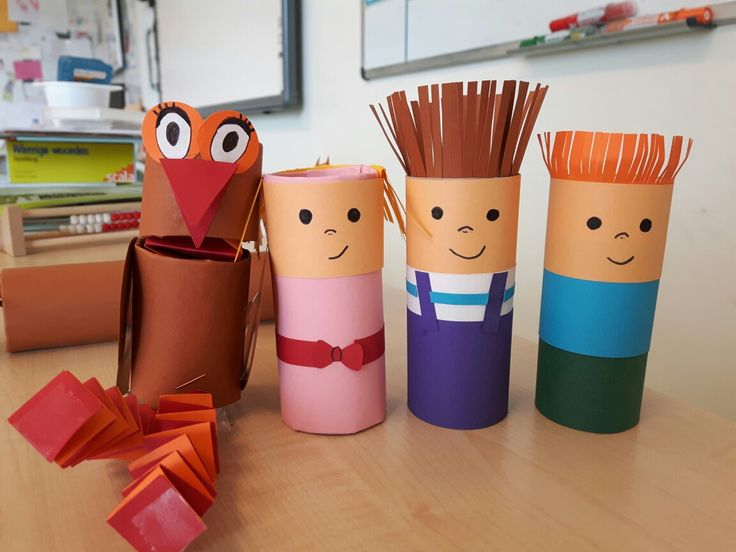 pluk van de petteflet knutselen met wcrolletjes en papier #pluk #aagje #stampertjes #krullevaar