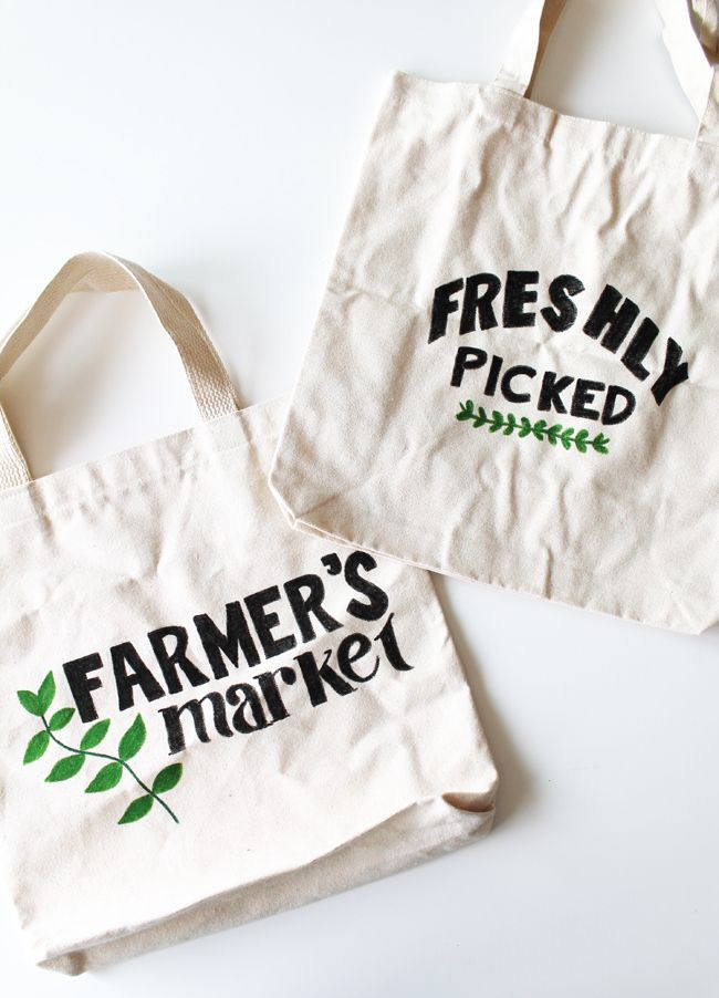 Farmer's Market DIY Tote Bag | Henry Happened