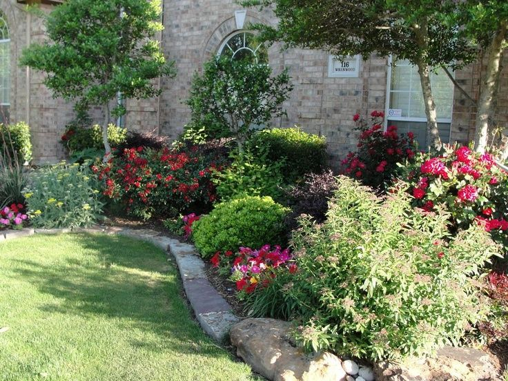 garden amazing look of perennial flower garden design ideas and brown garden rocks also with lawn edging - Brown Garden Design