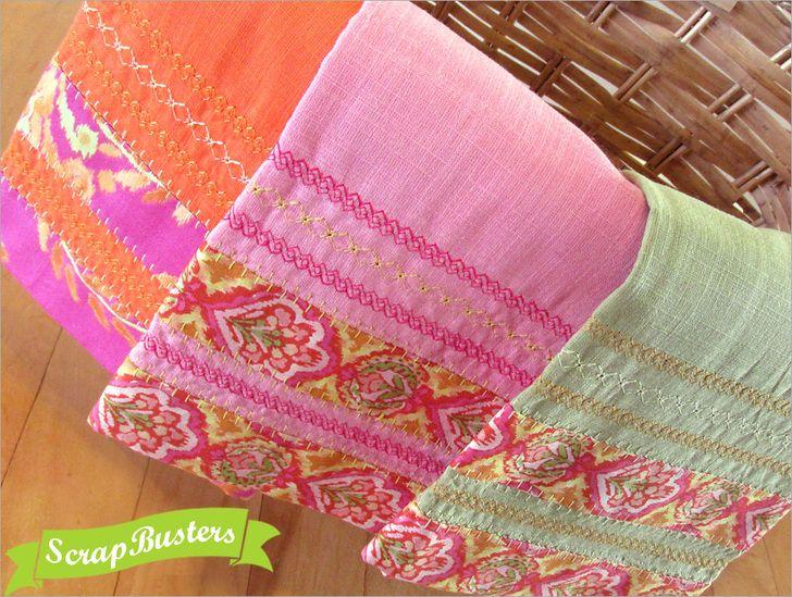 Janome Decorative Stitches Kitchen Towels